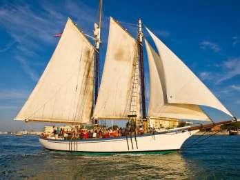 Camden: Segeln bei Sonnenuntergang an Bord von Appledore II