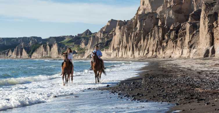 Santorini: Horse Riding Trip from Vlychada to Eros Beach