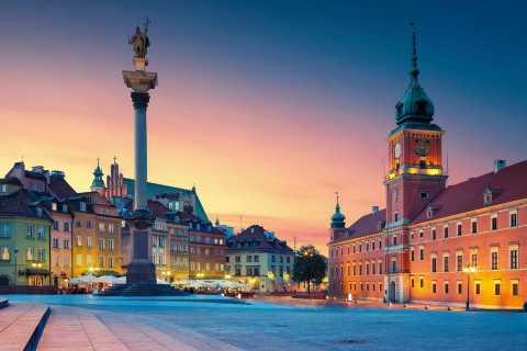 Warschau: oude stad, koninklijk kasteel en paleis van cultuur en wetenschap