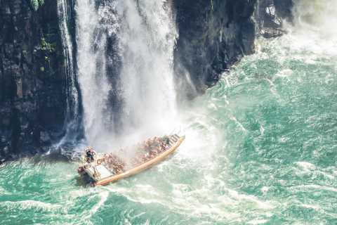 From Puerto Iguazu: Brazilian Falls with Boat Adventure