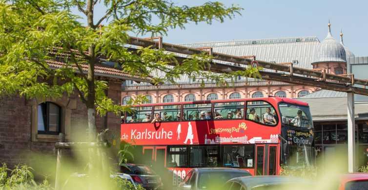 Karlsruhe: 24-timers Hop-On Hop-Off Sightseeing Bus Billet