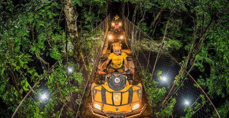 From Riviera Maya: Jungle Night Adventure Tour
