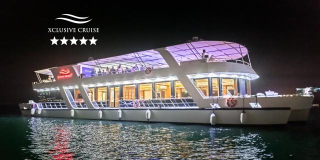 Dubai: luxe boottocht met diner en onbeperkte drankjes