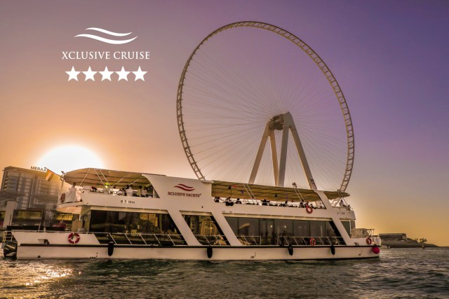 Dubai: boottocht met diner en drankjes bij zonsondergang