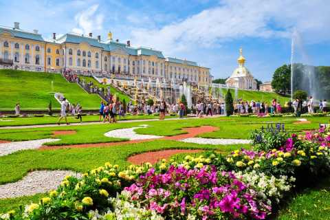 Pushkin, Catherine Palace, and Peterhof from St. Petersburg