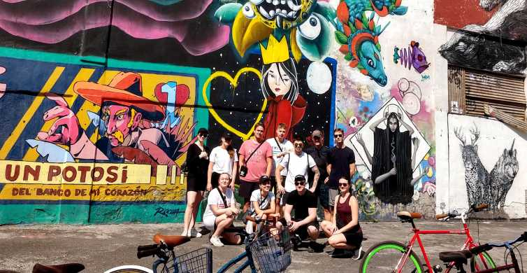 Mexico City: 3-Hour Art and Street Food Bike Tour