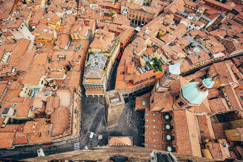 Bologna: Torre degli Asinelli und Verkostung