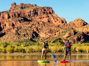 Phoenix & Scottsdale: Saguaro Lake Stand Up Paddleboard-Tour