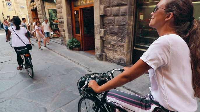 Florencia: tour en bicicleta vintage con cata de helado