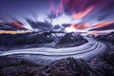 Glaciar Aletsch: boleto de ida y vuelta en teleférico a Eggishorn