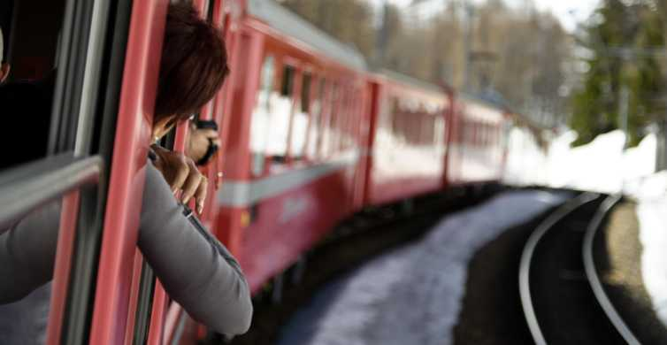 Tirano to St. Moritz: Bernina Red Train Return Day-Ticket