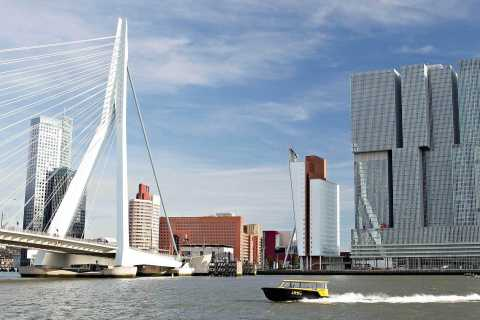 Rotterdam: De Rotterdam, Cube Houses, Watertaxi and Markthal