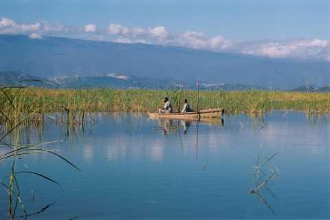 Barahona: Lake Enriquillo Bootstour und Schwimmen