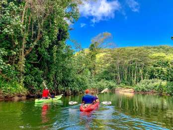 Kauai: Kayakfahrt auf dem Wailua River & Regenwald-Wanderung