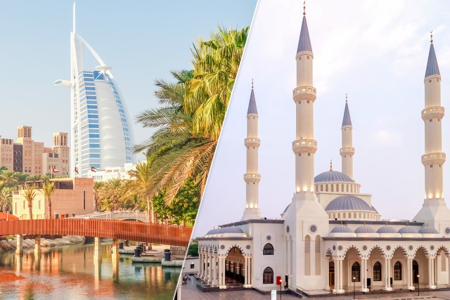 Dubai: rondleiding Oud en Modern met bezoek Blauwe Moskee