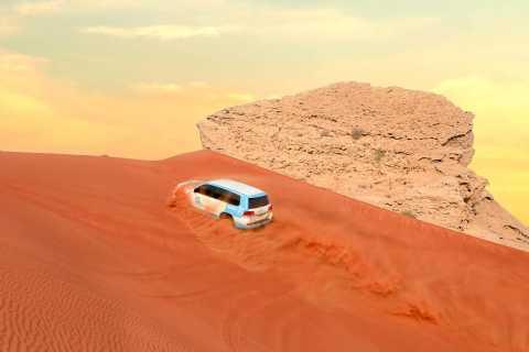 Dubai: safari sulle Dune Rosse e Camel Rock con BBQ