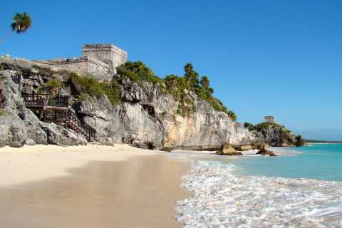 From Playa del Carmen: Tulum Ruins, Caves & Turtles