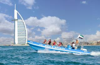 1,5-stündige Schnellboot-Tour Marina, Atlantis und Burj Al Arab