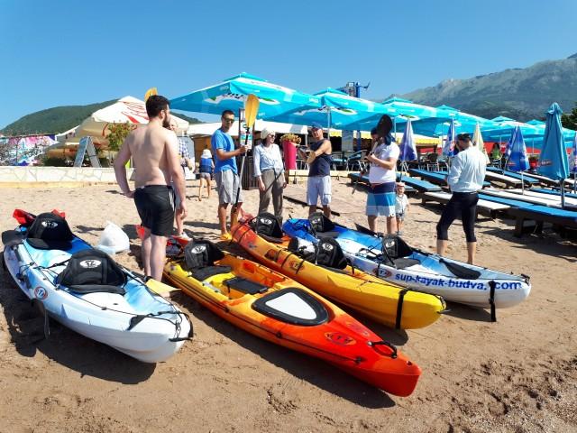 Budva: Kayak & Stand Up Paddle Board Rental