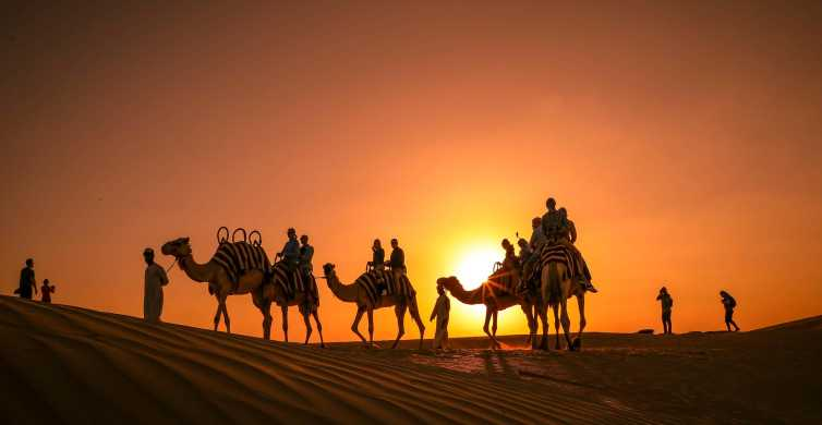 Abu Dhabi: Sunset Camel Trek & Barbecue Dinner