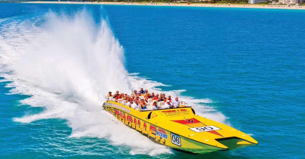 Miami: tour panorámico de 45 minutos en lancha rápida
