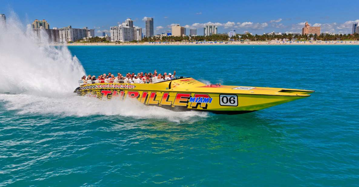 Miami: Sightseeing-Tour per Speedboat