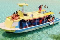 Cozumel: Excursão VIP em Barco com Fundo de Vidro e Snorkel