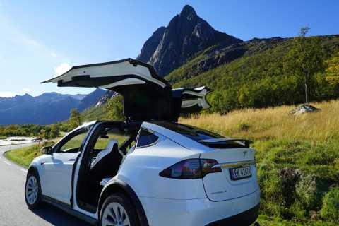 Tromsø: Fjord Sightseeing in a Tesla X Luxury Electric Car
