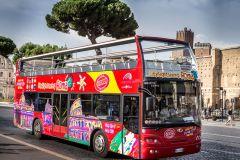 Roma: Excursão c/ Áudio e Circuito de Ônibus Hop-on Hop-off