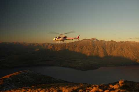 Panoramic View Helicopter Flight with Alpine Landing