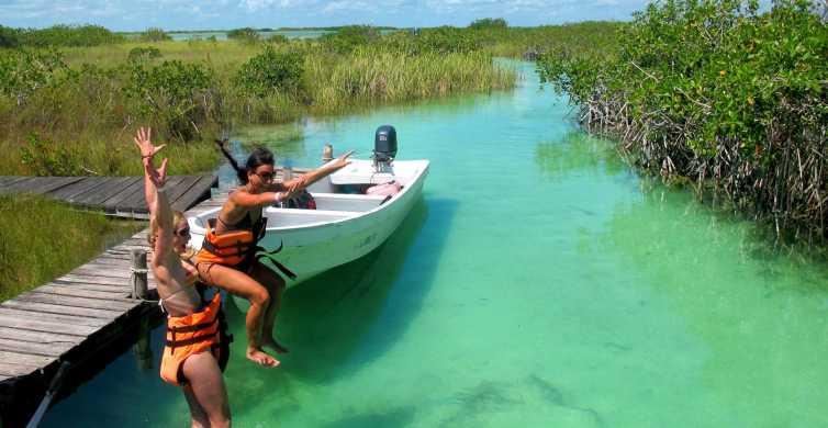 Tulum: Sian Ka'an Lagoons and Cenote Escondido Tour