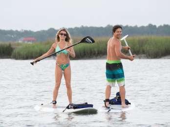 Charleston: Folly Beach Stand Up Paddleboard Delfinsafari