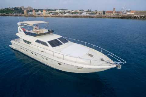 From Rhodes Town: Private Yacht Cruise with Lunch