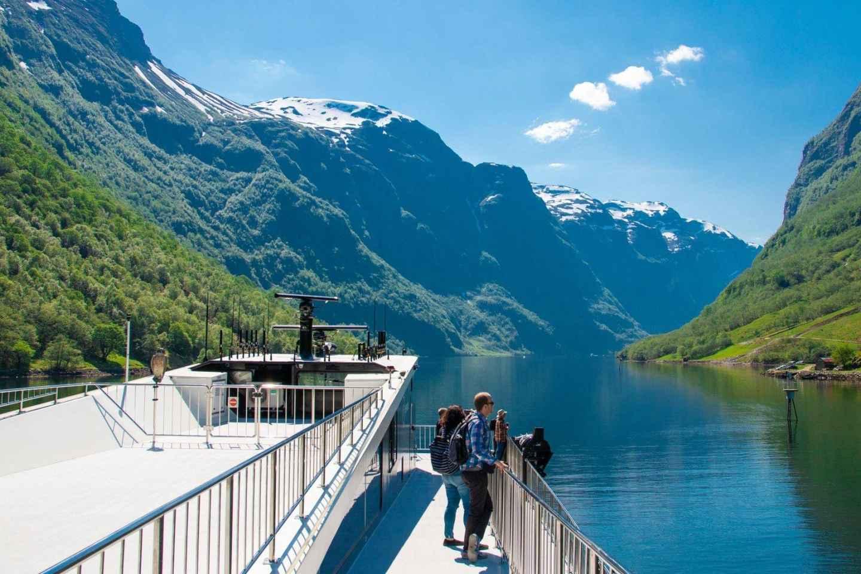 Bergen: Geführte Tagestour zum Nærøyfjord & Flåmsbanen
