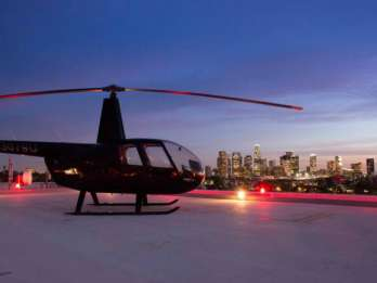 Los Angeles: Helikopter-Flug durch Downtown