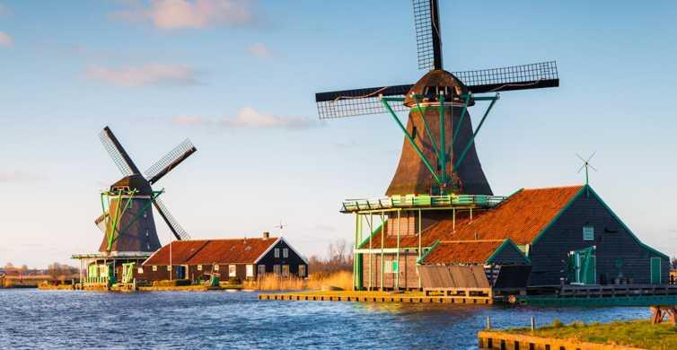 De Amsterdã: Moinhos de Vento de Zaanse Schans em Espanhol