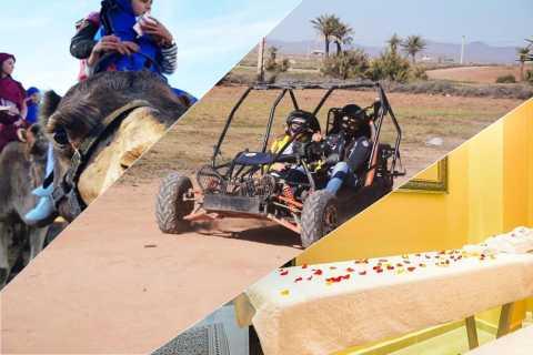 Marrakech: halve dagtour met buggyrit, kameelrit en spa