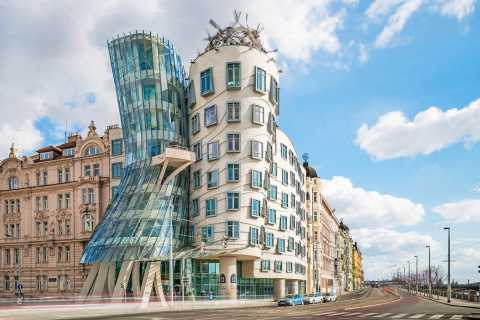 Praag: Dansende Huis, galerie en toegang tot dak
