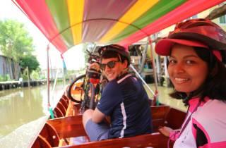 Bangkok: Schwimmender Markt per Rad und Boot mit Mittagessen