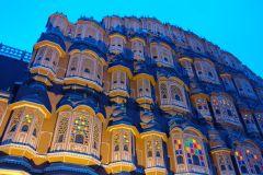 Jaipur: passeio a pé à noite