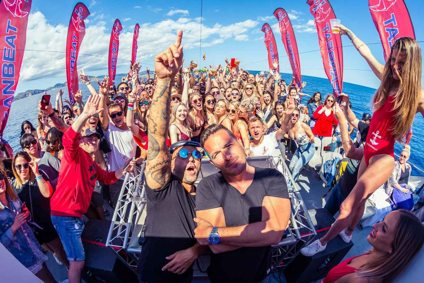 Ibiza: All-Inclusive Oceanbeat Bootsparty mit offener Bar