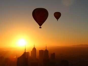 Melbourne: Heißluftballonfahrt bei Sonnenaufgang