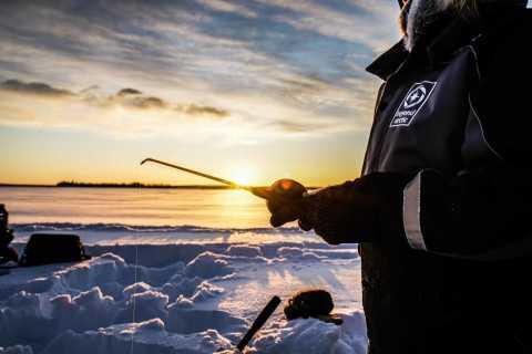 Rovaniemi: Ice Fishing on a Frozen Lake
