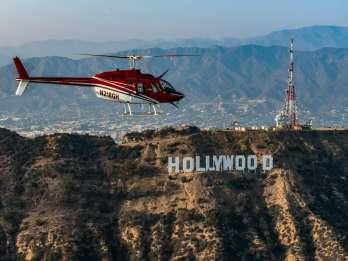 Los Angeles: 10-minütiger Helikopterflug am Hollywood Sign