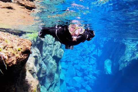 Silfra-Spalte: Schnorcheln & Unterwasserfotos, Abholservice