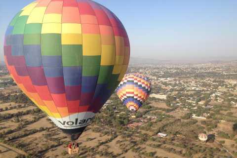 Vuelo en globo sobre las pirámides de Teotihuacán