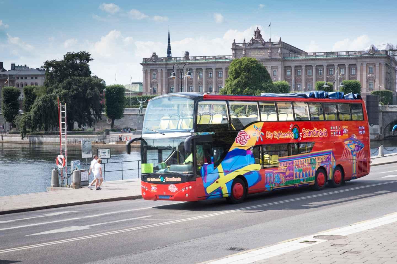 Stockholm: Hop-On/Hop-Off-Tour per Bus oder Bus & Boot