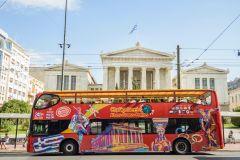 Atenas: Ônibus Vermelho Hop-On Hop-Off com Pireu e Rivera