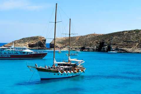 Malta, Gozo & Comino: Three Islands Trip with Lunch & Wine