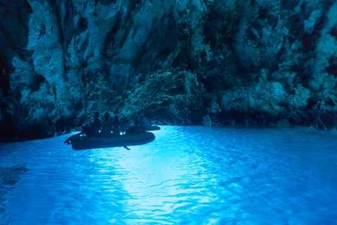 Depuis Omiš: grotte bleue et 6îles en hors-bord